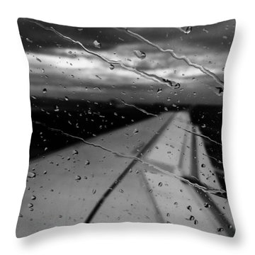 Fly Away On A Rainy Day Throw Pillow