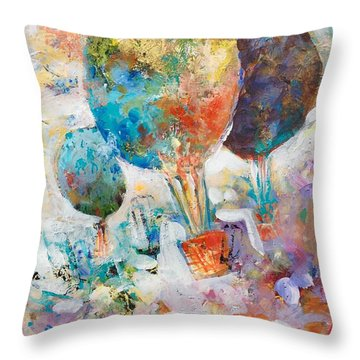 Fly Away To Creativity Throw Pillow