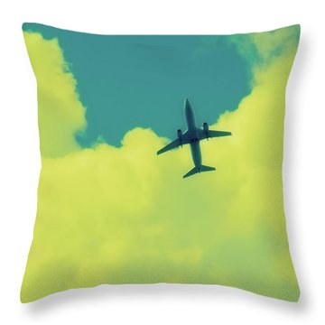 Fly Away  Without Snapshot Border Throw Pillow