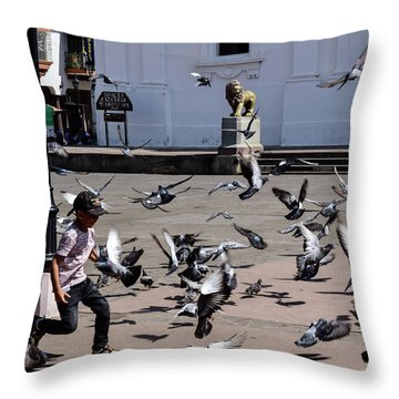 Fly Birdies Fly Throw Pillow