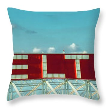 Fly Delta Jets Signage Hartsfield Jackson International Airport Atlanta Georgia Art Throw Pillow
