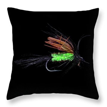 Throw Pillow featuring the photograph Fly-fishing 1 by James Sage
