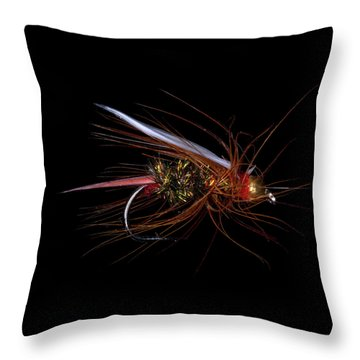 Throw Pillow featuring the photograph Fly-fishing 4 by James Sage
