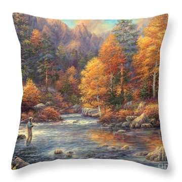 Fly Fishing Throw Pillows