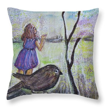 Fly, Fly Away Throw Pillow