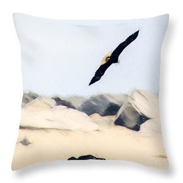 Fly Free Throw Pillow by Billie-Jo Miller