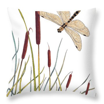 Fly High Dragonfly Throw Pillow