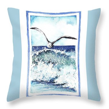 Throw Pillow featuring the painting Fly High by Heidi Kriel