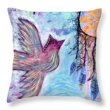 Fly Into Your Sweet Dreams Throw Pillow