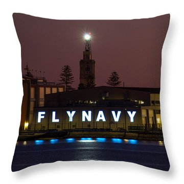 Fly Navy Throw Pillow