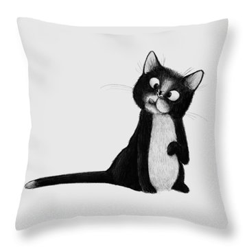 Fly On Cat Throw Pillow