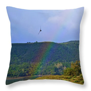 Fly Over The Rainbow Throw Pillow