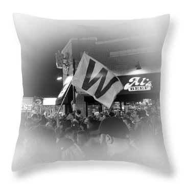 Fly The W Throw Pillow