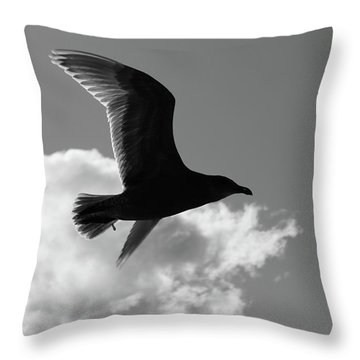 Fly To Darkness  Throw Pillow