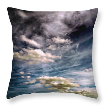 Throw Pillow featuring the photograph Flyaway by Tom Druin