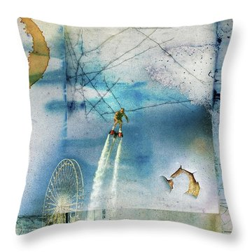 Flyboard - Freestyle Throw Pillow