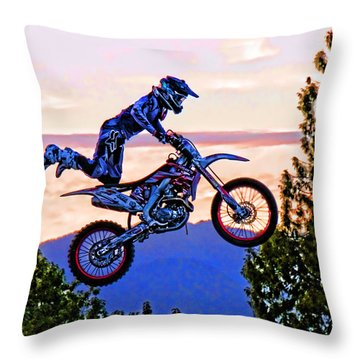 Flying 4 Just Hangin On Throw Pillow