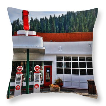 Flying A Gas Throw Pillow