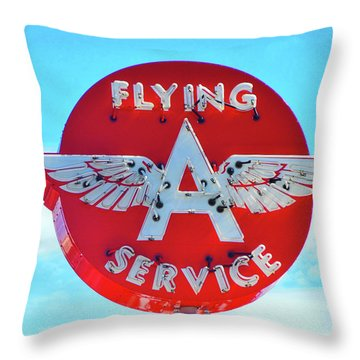 Flying A Service Sign Throw Pillow