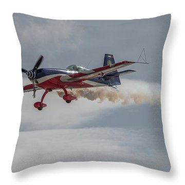 Flying Acrobatic Plane Throw Pillow
