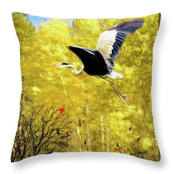 Flying Against The Wind Throw Pillow