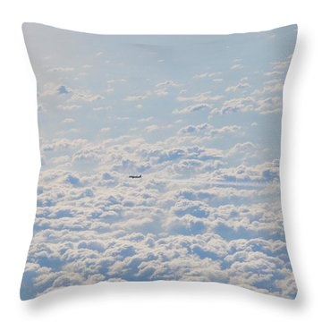 Throw Pillow featuring the photograph Flying Among The Clouds by Bill Cannon