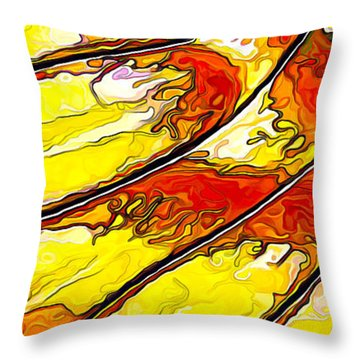 Throw Pillow featuring the digital art Flying Away... by ABeautifulSky Photography