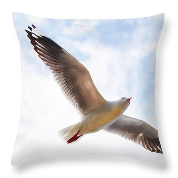 Flying Away From The Madness Throw Pillow