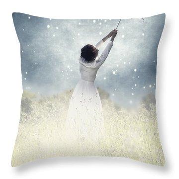 Flying Away Throw Pillow by Joana Kruse