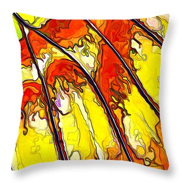 Throw Pillow featuring the digital art Flying Away...2 by ABeautifulSky Photography