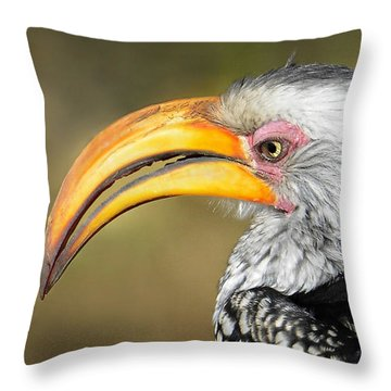 Flying Banana Throw Pillow