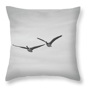 Flying Companions Throw Pillow