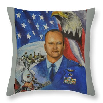 Flying Days Done Throw Pillow by Ken Pridgeon