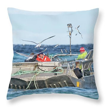 Throw Pillow featuring the photograph Flying Fish by Randy Hall