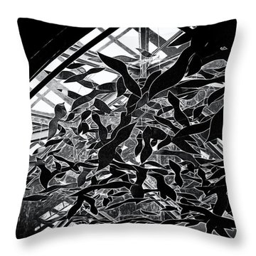 Flying Fish Throw Pillow by William Horden