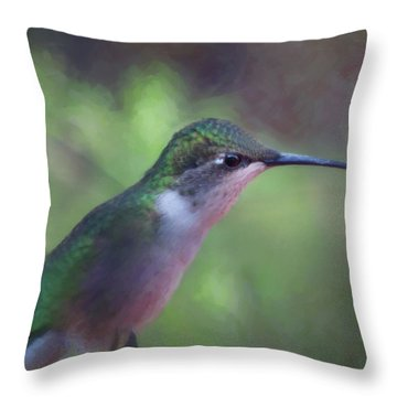 Flying Flower Throw Pillow