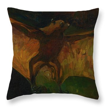 Flying Fox Throw Pillow