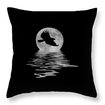 Throw Pillow featuring the photograph Flying Hawk 1 by Shane Bechler