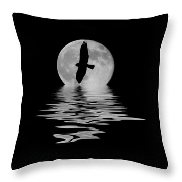 Throw Pillow featuring the photograph Flying Hawk 2 by Shane Bechler