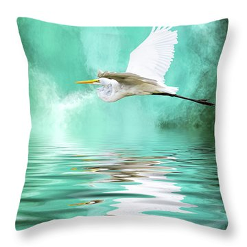 Flying High Throw Pillow by Cyndy Doty