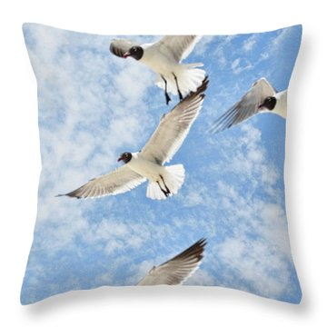 Throw Pillow featuring the photograph Flying High by Jan Amiss Photography