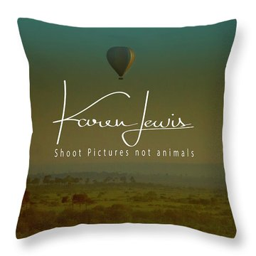 Throw Pillow featuring the photograph Flying High On The Masai Mara by Karen Lewis