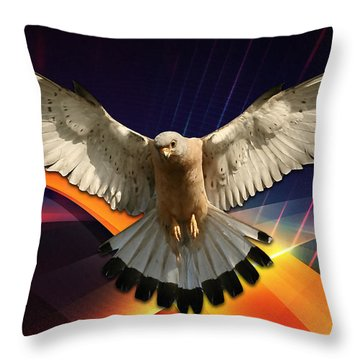 Flying In A Abstract Dream Throw Pillow