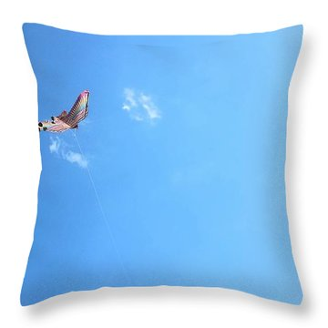 Flying In The Wind Throw Pillow