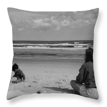 Flying Kites At The Beach.... Throw Pillow