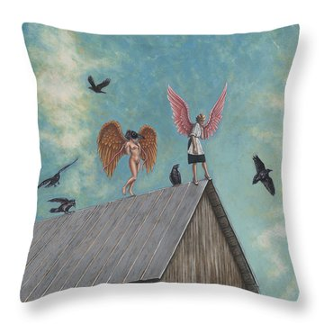 Flying Lessons Throw Pillow by Holly Wood