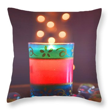 Flying Light Throw Pillow by Rima Biswas