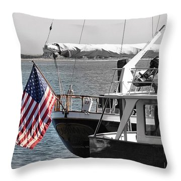 Flying Our Stars And Stripes Throw Pillow