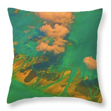 Flying Over The Keys, Florida Throw Pillow