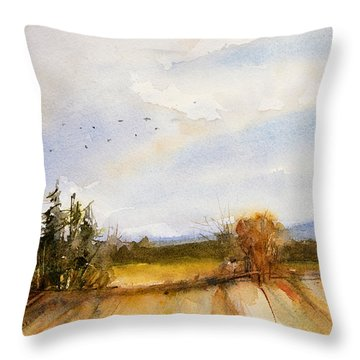 Flying South Throw Pillow by Judith Levins